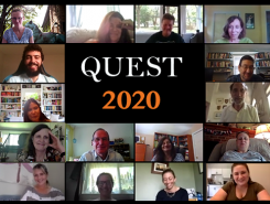 QUEST 2020 virtual institute shows participants on Zoom during meeting