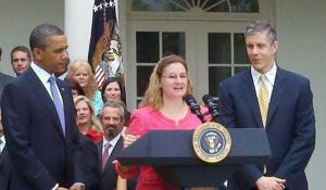 Michelle Shearer with President Obama
